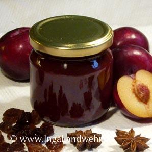 Pflaumen Marmelade ohne Gelierzucker